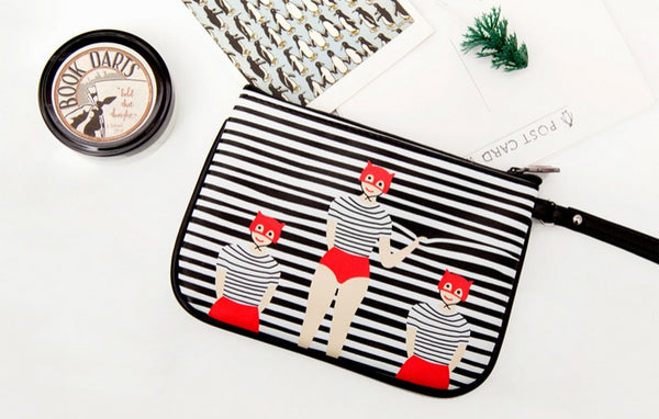 Lily & Lucy Striped Blinds Pouch By YIZI STORE X KOMESHOP