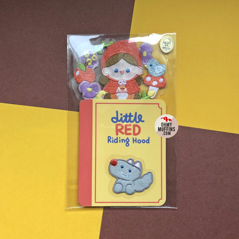Little Red Riding Hood Embroidered Sticker & Iron-On Patch