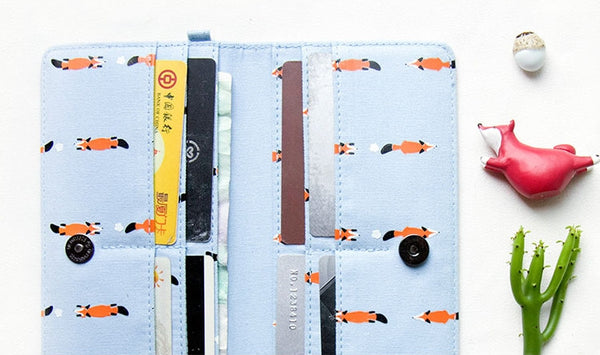 Whimsical Animals Long Wallet By Batu