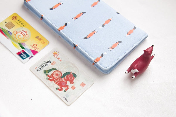Whimsical Animals Long Wallet By 八涂 (BaTu)