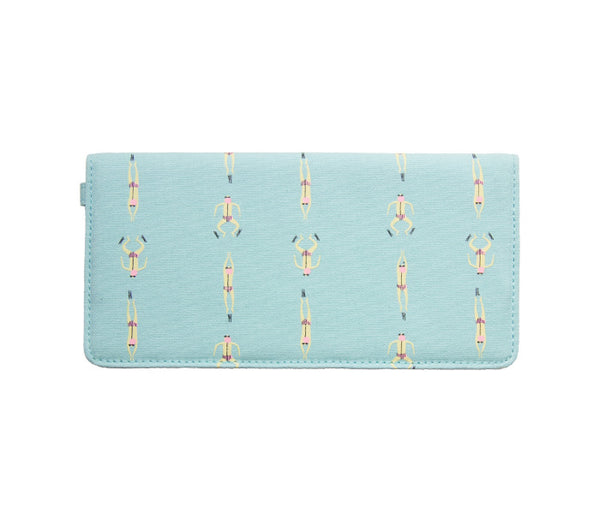 Whimsical Animals Swimming Long Wallet By 八涂 (BaTu)