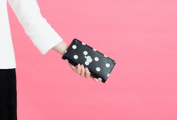 Lovely Animal [Elephant] Long Wallet By Kiitos Life