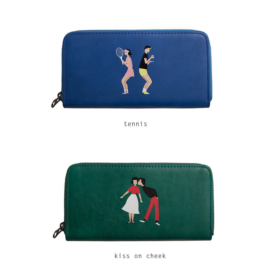 Lovers Long Wallet by YIZI X KOMESHOP - OUT OF PRODUCTION