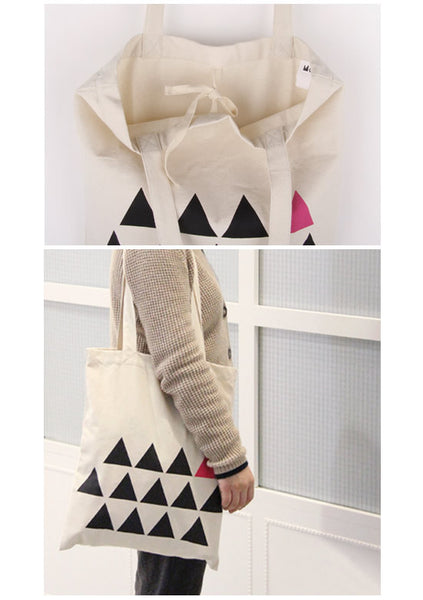 Trangles Printed Tote Bag by MOMO