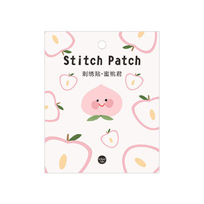 Magic Fairy Peach Embroidered Sticker Patch