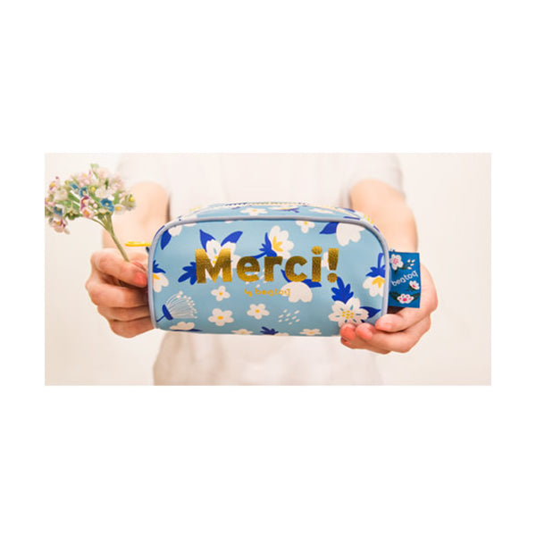Merci [Blue] Pencil Case By Bentoy