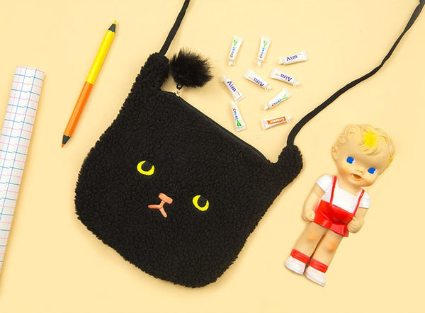 Black Cat Miss Cat Sling Bag By Bentoy