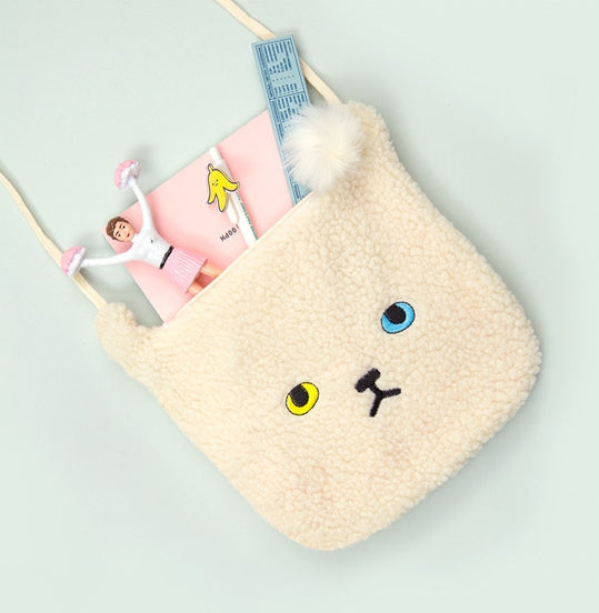 White Cat Miss Cat Sling Bag By Bentoy