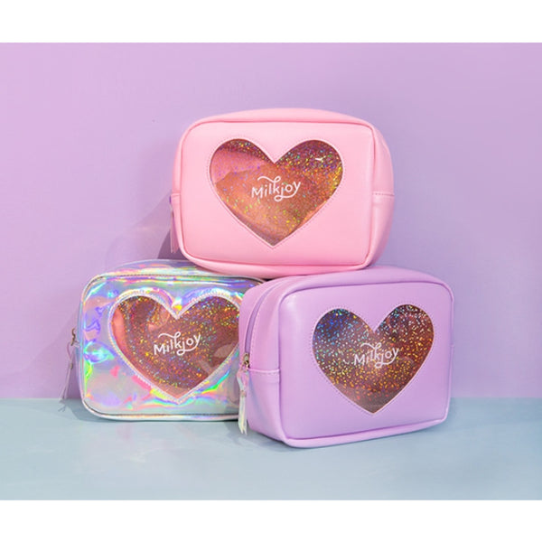 My Sparkle Heart [Pink] Box Pouch By Milkjoy