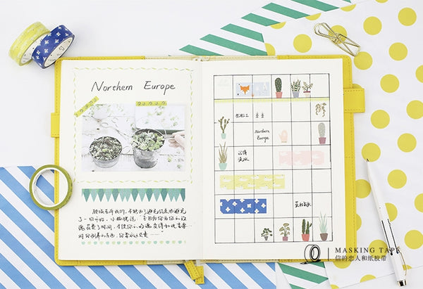 Northern Europe Little Flowers Washi Tape