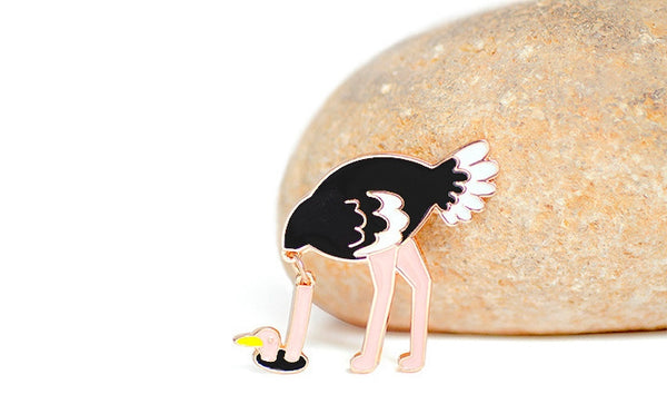 Birds Ostrich Pin By BMCS Life