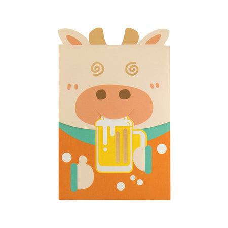 Cute Ox [Beer] Red Packets By U-Pick