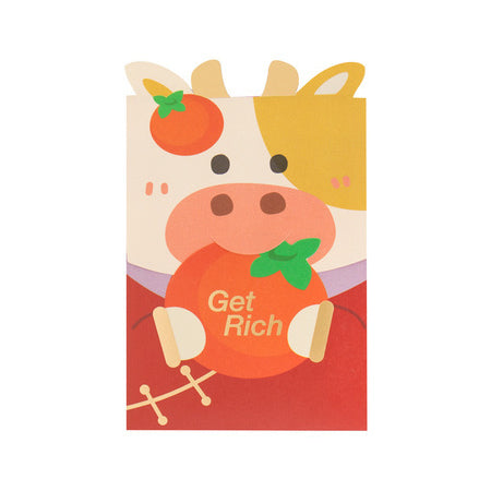 Cute Ox [Get Rich] Red Packets By U-Pick