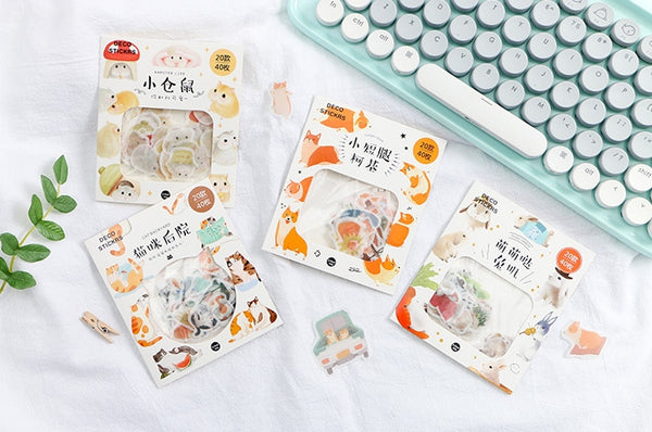 Animal [Hamster] Deco Stickers Pack