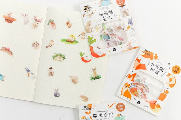 Animal [Rabbit] Deco Stickers Pack