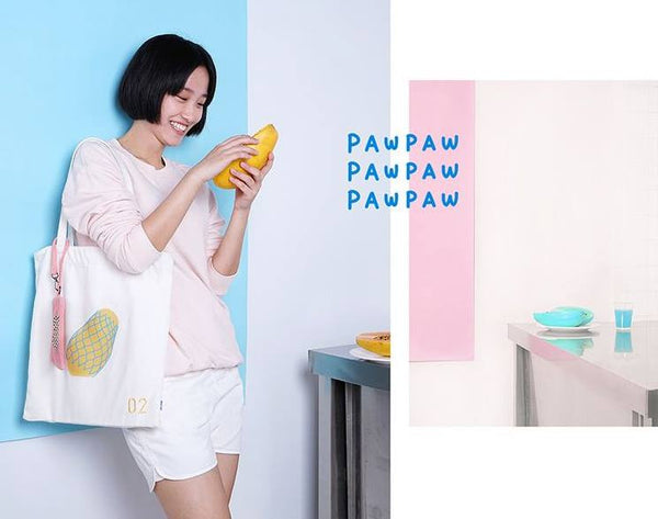 Payaya Fruits Tote Bag By 小野 (Xao Ye)