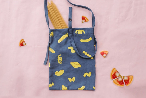 Pasta Fun Food Sling Bag by 小野 (Xao Ye)