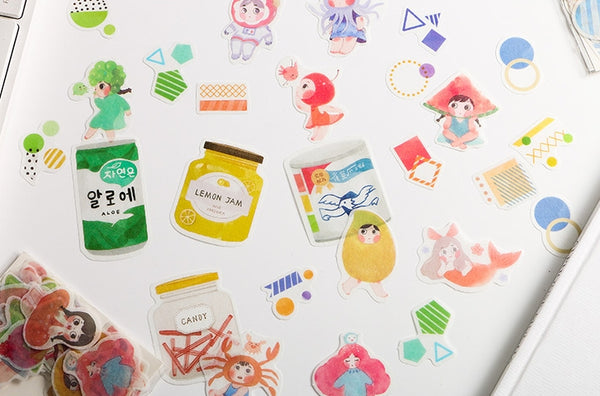 Pattern [Bottles Cans] Deco Stickers Pack