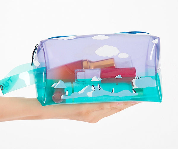 Transparent Penguin Box Pouch With Strap By TUOUO