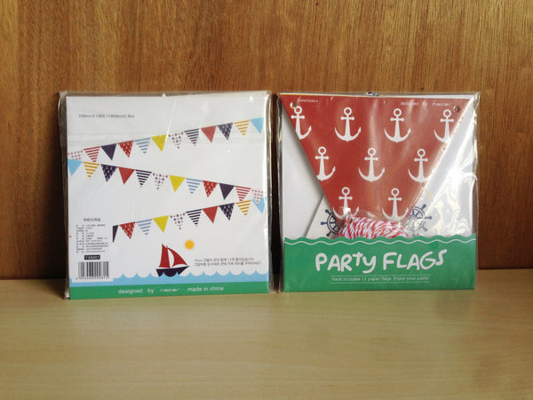 Marine Paper Bunting Flags