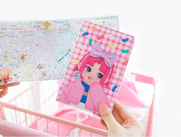 Dolly Girl [Pink Candy] Passport Cover Holder By Milkjoy