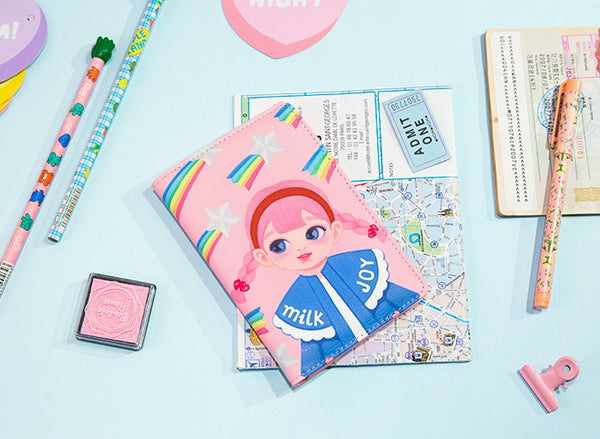 Dolly Girl [Pink Rainbow] Passport Cover Holder By Milkjoy