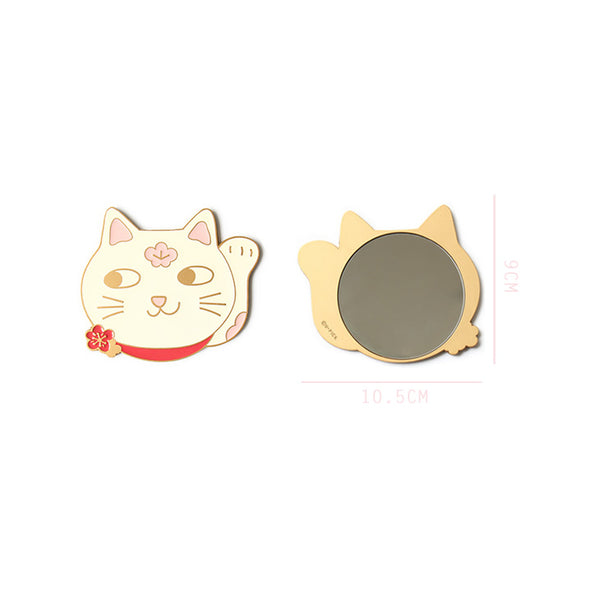Pocket Mirror Lucky Cat By U-Pick
