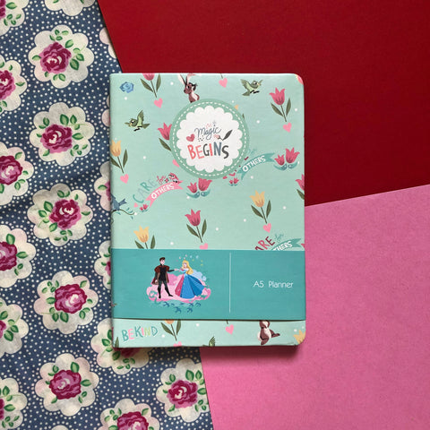 Disney Princess Aurora and Prince Green Planner Book