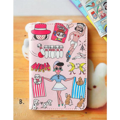 Quirky [Pink] Passport Cover By Bentoy