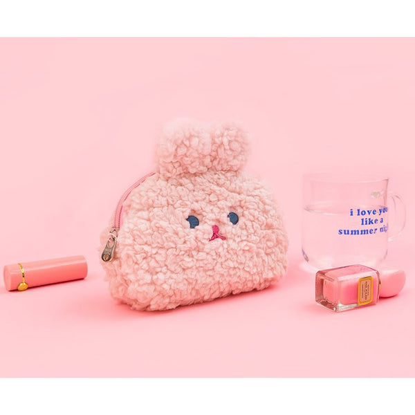 Rabbit [Pink] Cosmetic Pouch By Milkjoy
