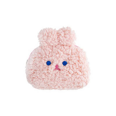 Rabbit Pink Cosmetic Pouch By Milkjoy