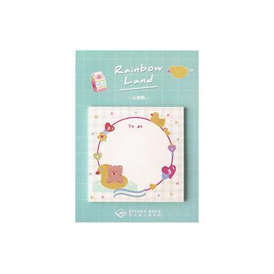 Rainbow Land Swimming Ring Bear Sticky Notes