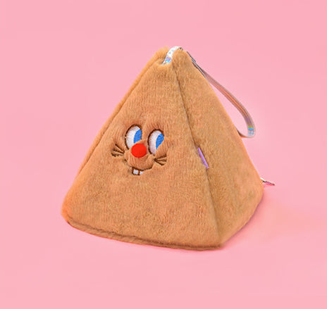 Red Nose Caramel Triangle Pouch By Bentoy