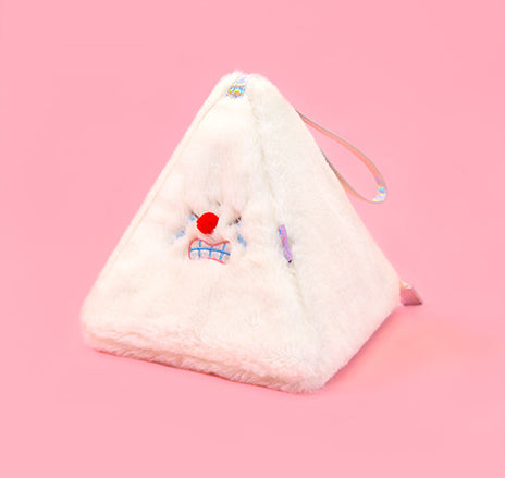Red Nose White Triangle Pouch By Bentoy