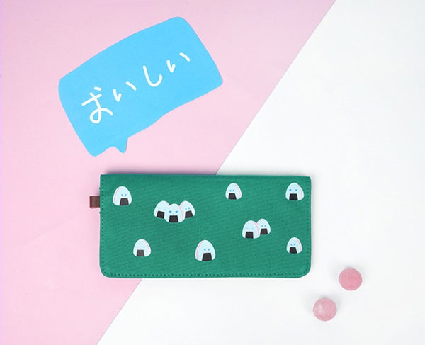 Rice Roll Canvas Long Wallet By 小野 (Xao Ye)