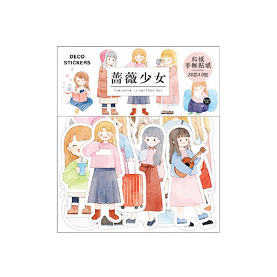 Sakura Rose Girl Stickers Pack