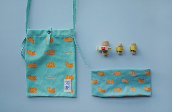 Salmon Fun Food Sling Bag by 小野 (Xao Ye)