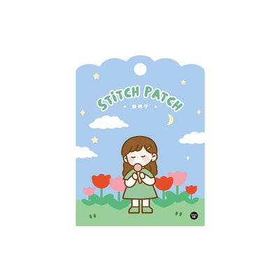 School Girl [Green Girl] Embroidered Sticker & Iron-On Patch