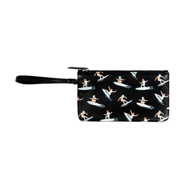 Fun At The Sea Surfing Flat Case Pouch By Kiitos Life