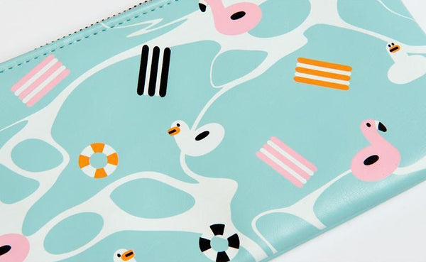 Fun At The Sea [Swimming Ring] Flat Case Pouch By Kiitos Life