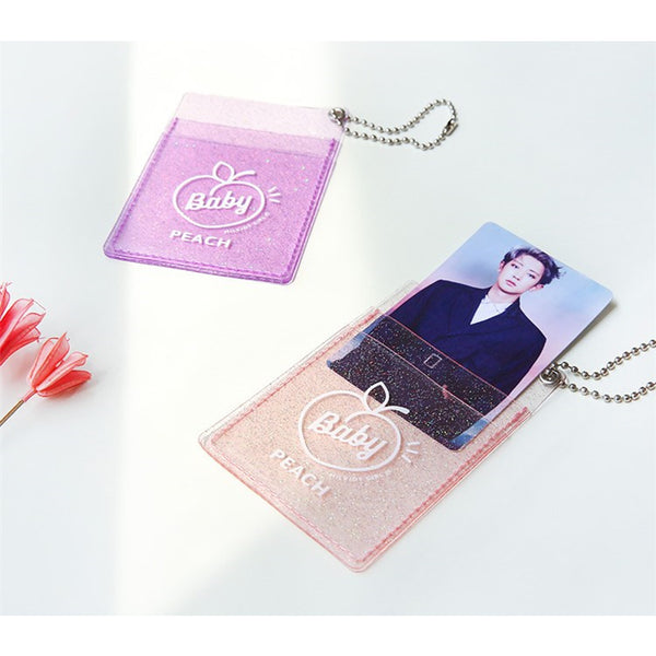 Secret Sparkle [Purple] Transparent Card Holder By Milkjoy