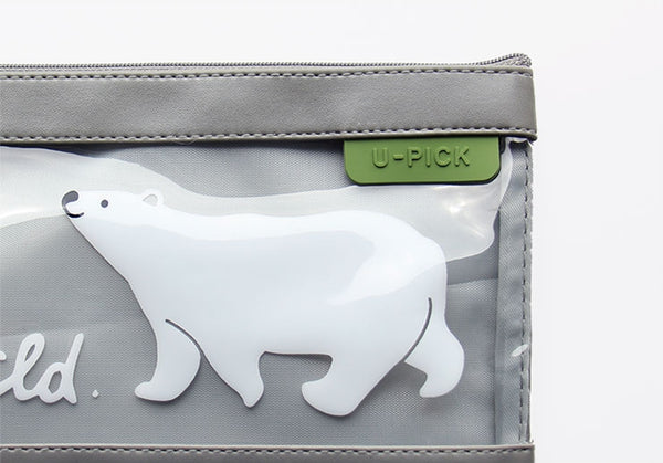 Semi Transparent [Polar Bear] Flat Pouch By U-Pick