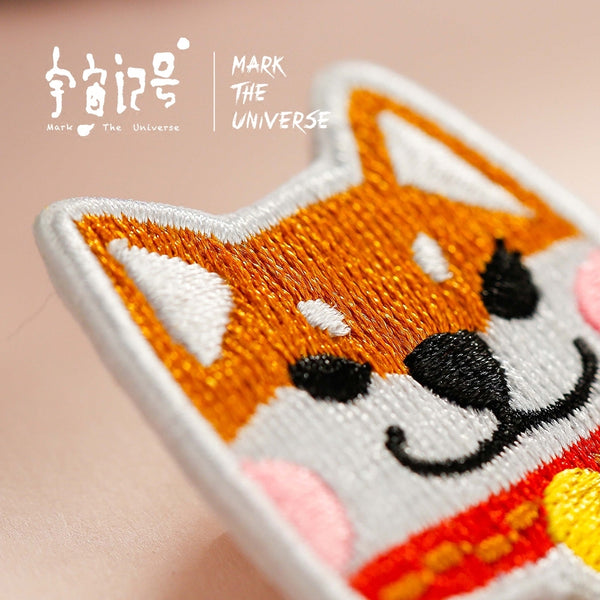 Shiba Inu Embroidery Brooch By Mark The Universe