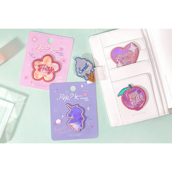 Shining Girl [Heart Dream Girl] Embroidered Sticker Patch