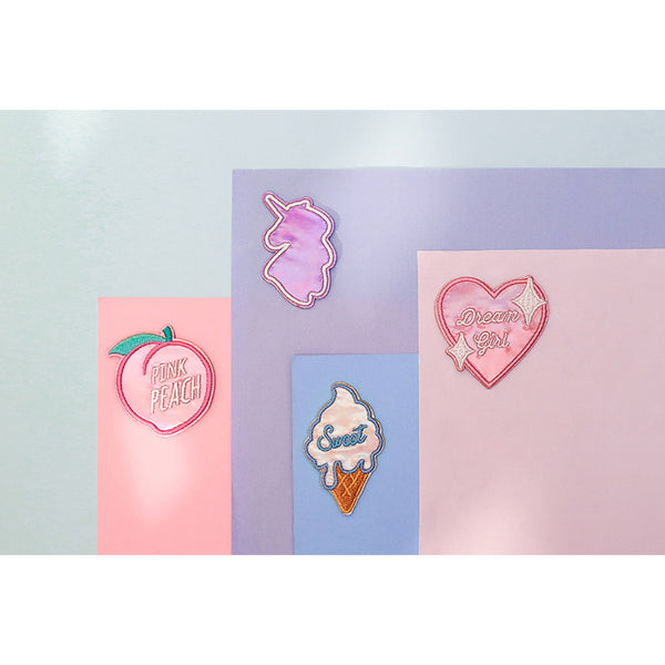 Shining Girl [Sweet Ice Cream] Embroidered Sticker Patch