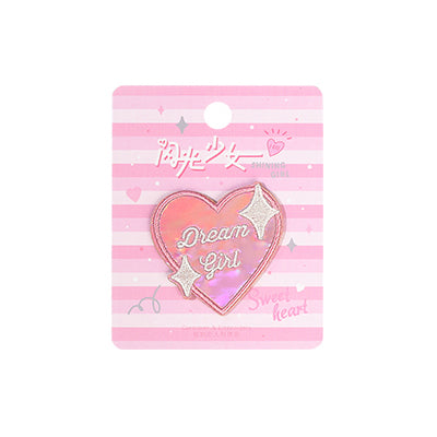 Shining Girl Heart Dream Girl Embroidered Sticker Patch