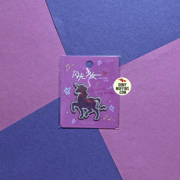 Shining Girl Unicorn Embroidered Sticker Patch