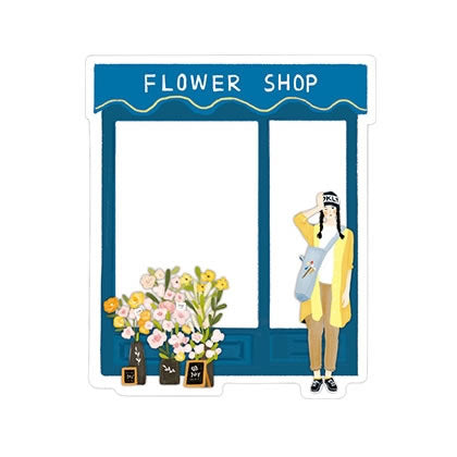 Shop House Flower Shop Sticky Notes