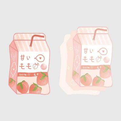 Tasty Snacks Peach Soda Notepad