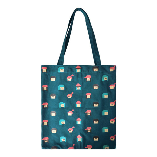 Shopping Pixel Girls Tote Bag By Kiitos Life